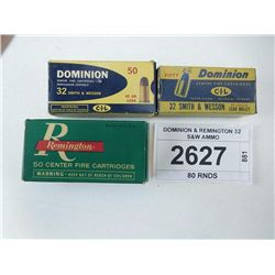 DOMINION & REMINGTON 32 S&W AMMO