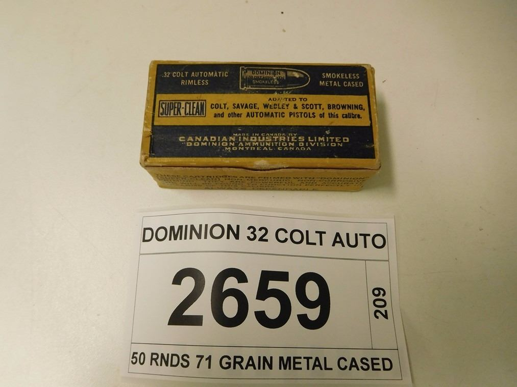 Dominion Auto Auction >> DOMINION 32 COLT AUTO AMMO
