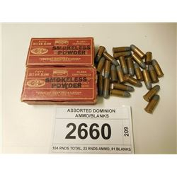 ASSORTED DOMINION AMMO/BLANKS