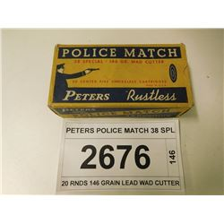 PETERS POLICE MATCH 38 SPL
