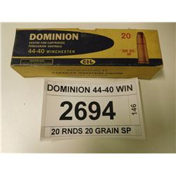 DOMINION 44-40 WIN AMMO