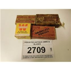 ASSORTED ANTIQUE AMMO & BLANKS