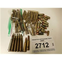 ASSORTED ANTIQUE/MILITARY AMMO