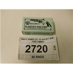 NAVY ARMS CO. 32 SHORT RIM FIRE AMMO