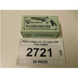 NAVY ARMS CO. 32 LONG RIM FIRE AMMO