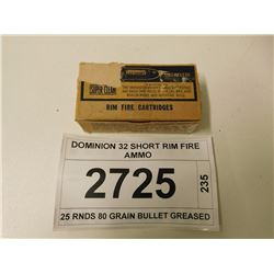 DOMINION 32 SHORT RIM FIRE AMMO