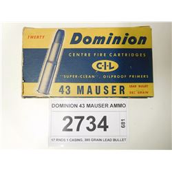 DOMINION 43 MAUSER AMMO