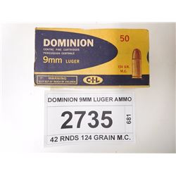 DOMINION 9MM LUGER AMMO