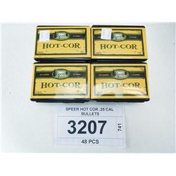 SPEER HOT COR .25 CAL BULLETS