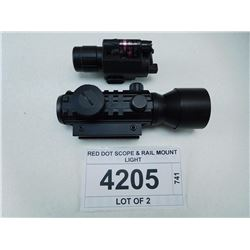 RED DOT SCOPE & RAIL MOUNT LIGHT