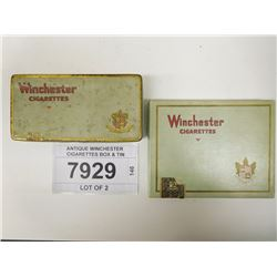 ANTIQUE WINCHESTER CIGARETTES BOX & TIN