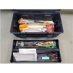 ASSORTED MUZZLE LOADING AND CLEANING TOOL BOX