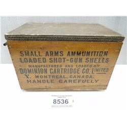 DOMINION CROWN WOODEN AMMO BOX