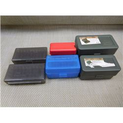 ASSORTED PLASTIC AMMO CASES