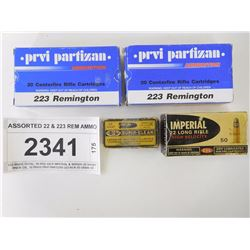 ASSORTED 22 & 223 REM AMMO