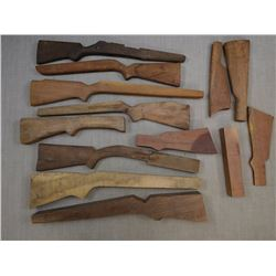ASSORTED WOODEN BLANKS FOR MAKING STOCKS