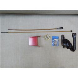 ASSORTED ANTIQUE RELOADING AND ACCESSORIES