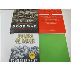 ASSORTED HARDCOVER WAR BOOKS