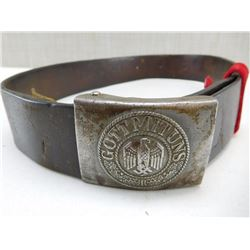 GERMAN MILITARY BELT & BUCKLE