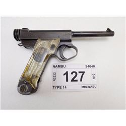 NAMBU , MODEL: TYPE 14 , CALIBER: 8MM NAMBU