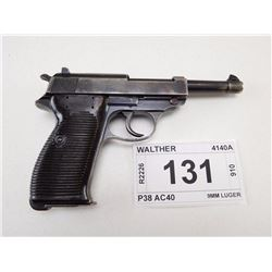 WALTHER , MODEL: P38  , CALIBER: 9MM LUGER