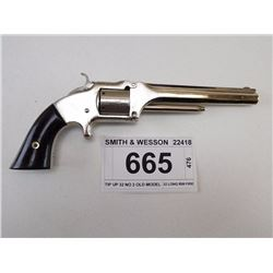 SMITH & WESSON , MODEL: TIP UP 32 NO 2 OLD MODEL  , CALIBER: 32 LONG RIM FIRE