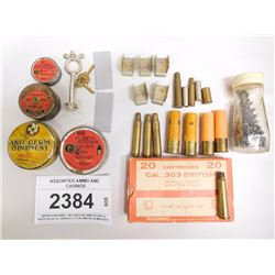 ASSORTED AMMO AND CASINGS