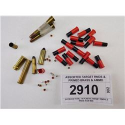 ASSORTED TARGET RNDS & PRIMED BRASS & AMMO