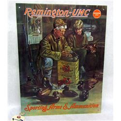 REMINGTON-UMC TIN SIGN