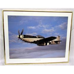 FRAMED P-51D PLANE PHOTO