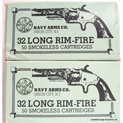 100 RNDS NAVY ARMS 32 LONG RIM FIRE
