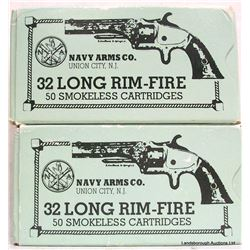 100 RNDS NAVY ARMS 32 LONG RF