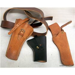 THREE HOLSTERS