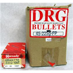 400 .45 CALIBER SWC BULLETS