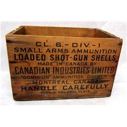VINTAGE WOODEN AMMO CRATES