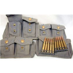 100 RNDS 303 BRITISH ON CLIPS IN CANVAS POUCHES