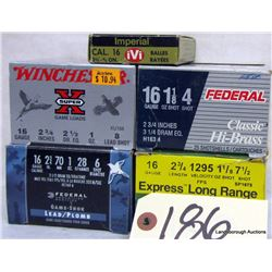 BOX LOT 16GA 2 3/4  AMMUNITION