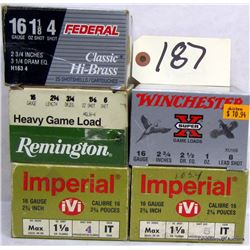 "BOX LOT 16GA 2 3/4"" AMMUNITION"