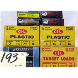 "BOX LOT 12GA 2 3/4"" AMMUNITION"