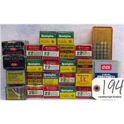BOX LOT .22 AMMUNITION