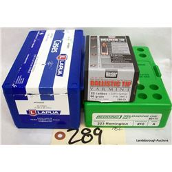 BOX LOT .223REM RELOADING COMPONENTS