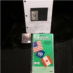 """1990 Edition Brookman Stamp Prices United States United Nations & Canada"", priced at $6.95; & 1954"