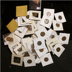 Large group of carded Lincoln Cents dating 1909 to 1927. All priced to sell, includes a 1909 P VDB.