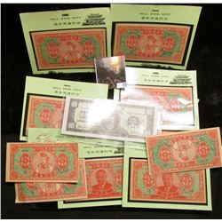 (16) Chinese Hell Bank Notes, CU, a few different types, some sealed in holders issued by the Intern