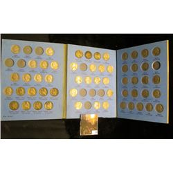 1938-61 Partial Set of Jefferson Nickels in a Whitman folder, includes all of the Silver War Nickels
