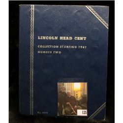 1941-74 Partial Set of Lincoln Cents in a Whitman folder, includes the set of copper shell-case Cent