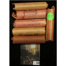 1919 D, 20 S, 37 P, 45 S, 53 S, & 54 S Circulated Rolls of Lincoln Cents. (6 Rolls)