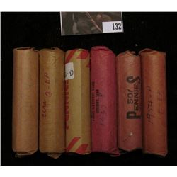 1910 P, 35 D, 37 P, 48 S, 54 P, & 56 D Circulated Rolls of Lincoln Cents. (6 Rolls)