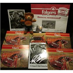 (8) Pieces of Tim Richmond T.G. Sheppard's Folgers Racing Team memorabilia, some of which is autogra