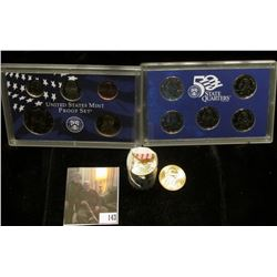 2001 S U.S. Proof Set, original as issued; & (20) Uncirculated John Adams Presidential Dollars.